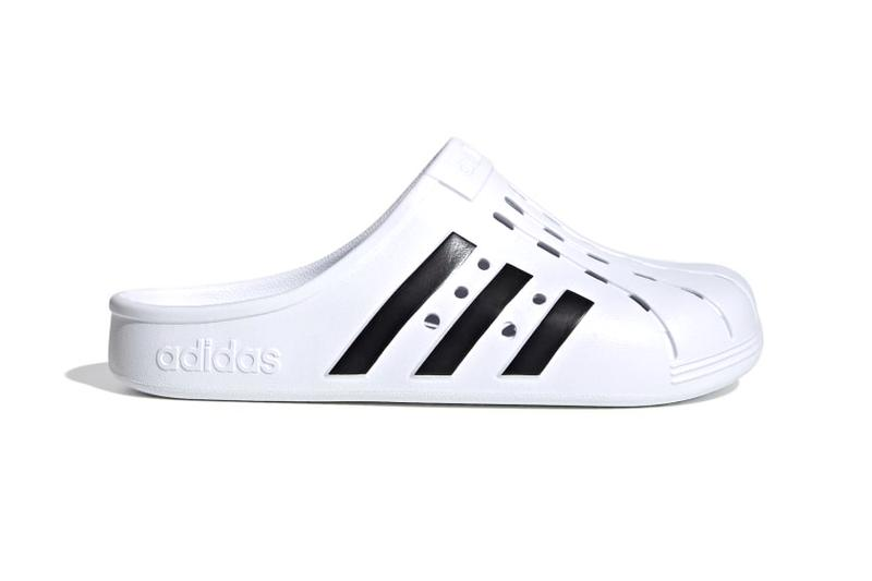 adidas adilette clogs slides slippers mules cloud white black release info