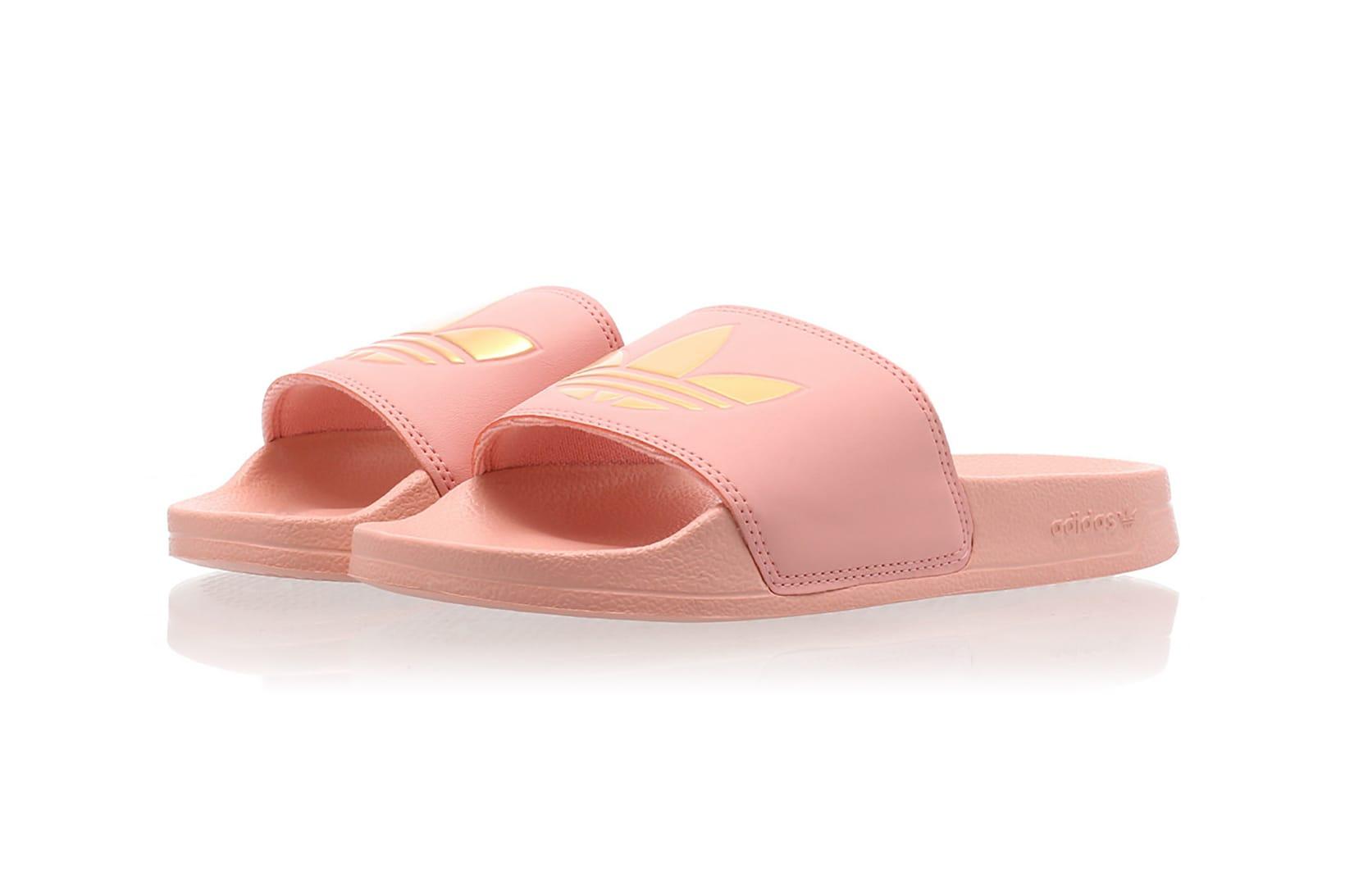 adidas adilette Lite Slides Pink/White