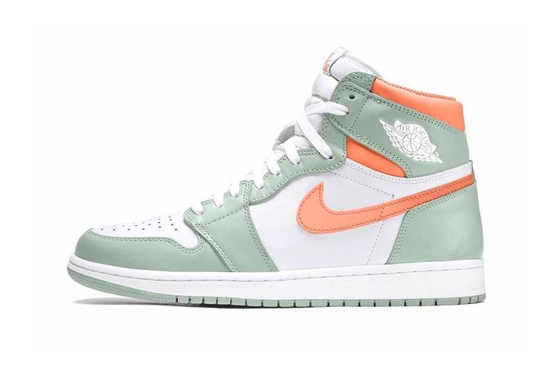 nike air jordan 1 high aj1 seafoam healing orange pastel green coral sneakers release info