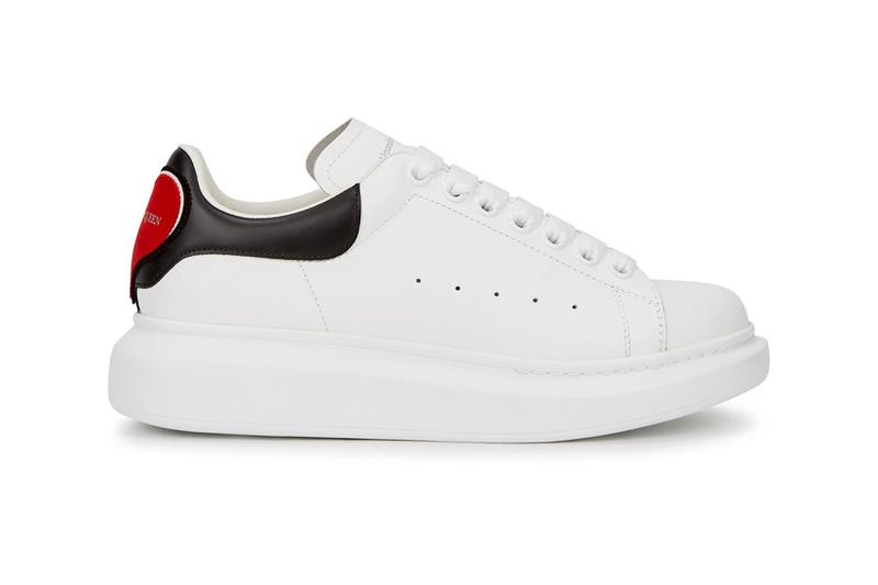 alexander mcqueen larry heart red suede womens sneakers price release