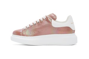 Picture of Alexander McQueen's Oversized Sneakers Get an Iridescent Rose Gold Makeover