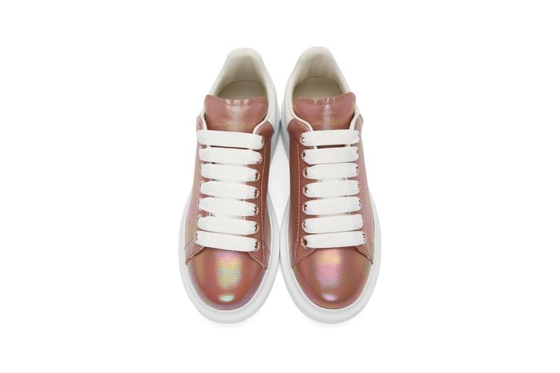 alexander mcqueen rose gold white oversized sneakers footwear shoes sneakerhead