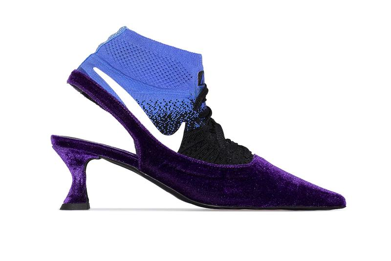 ANCUTA SARCA Nike Purple 65 Sock Insert Pumps Heels Reworked Upcycled