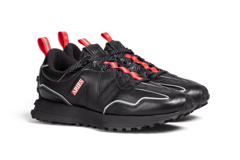 aries new balance collaboration 327 sneakers black white red colorway sneakerhead footwear shoes