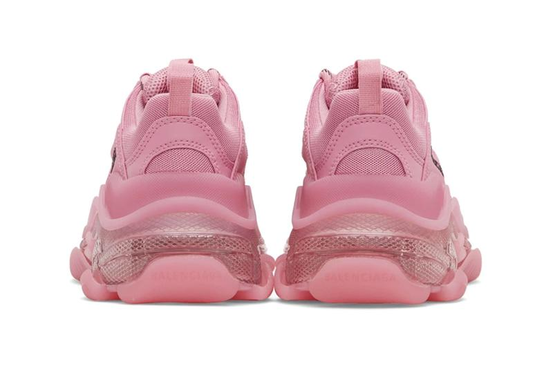balenciaga triple s pink pastel womens chunky ugly sneakers price release
