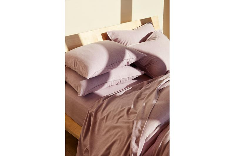 Brooklinen Heathered Cashmere Sheets Pillowcase Duvet Cover Amethyst Purple