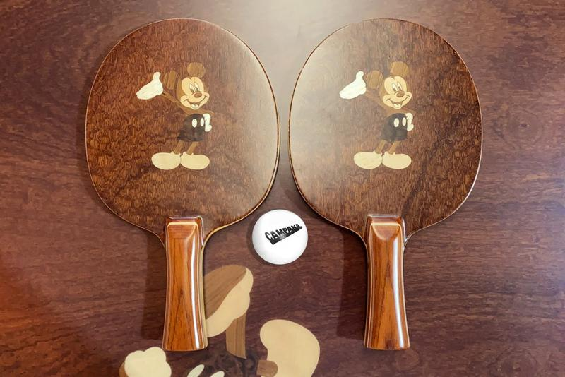Mickey Mouse Ping Pong Table Paddle Racket Set Campana Brothers