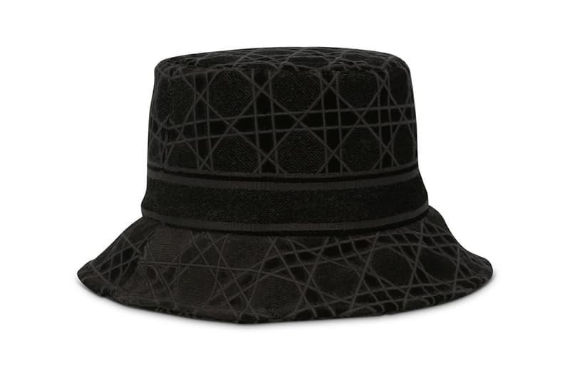 christian dior womens cannage small brim bucket hat black