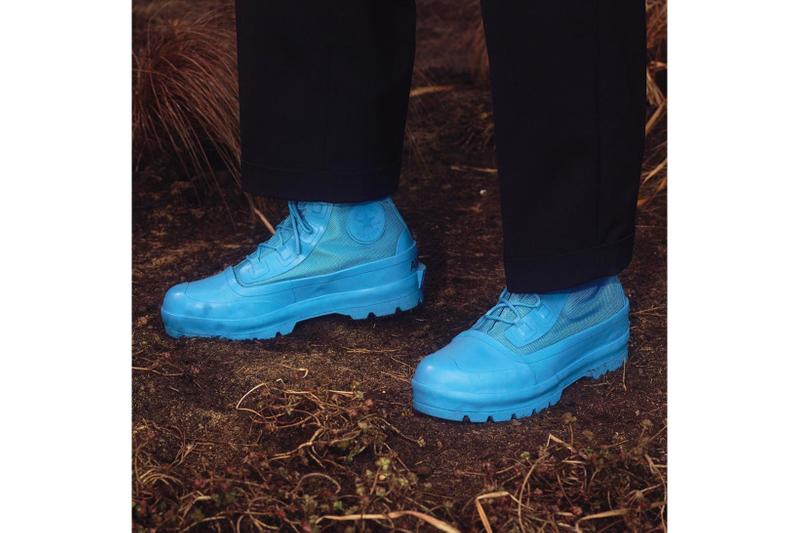 converse ambush collaboration season 2 chuck rubber boots blue