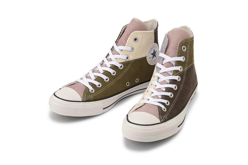 converse japan chuck taylor all star hi corduroy gray brown fall sneakers price release