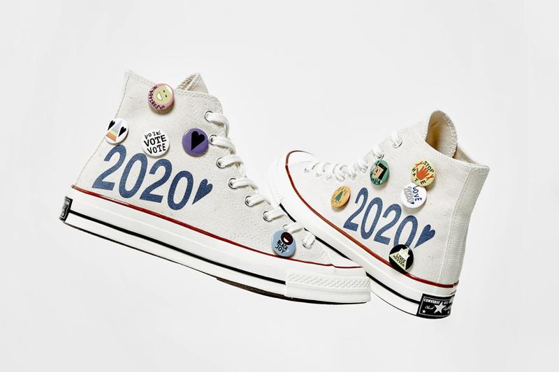 converse social status nina chanel collaboration chuck taylor all star sneakers us election vote donation