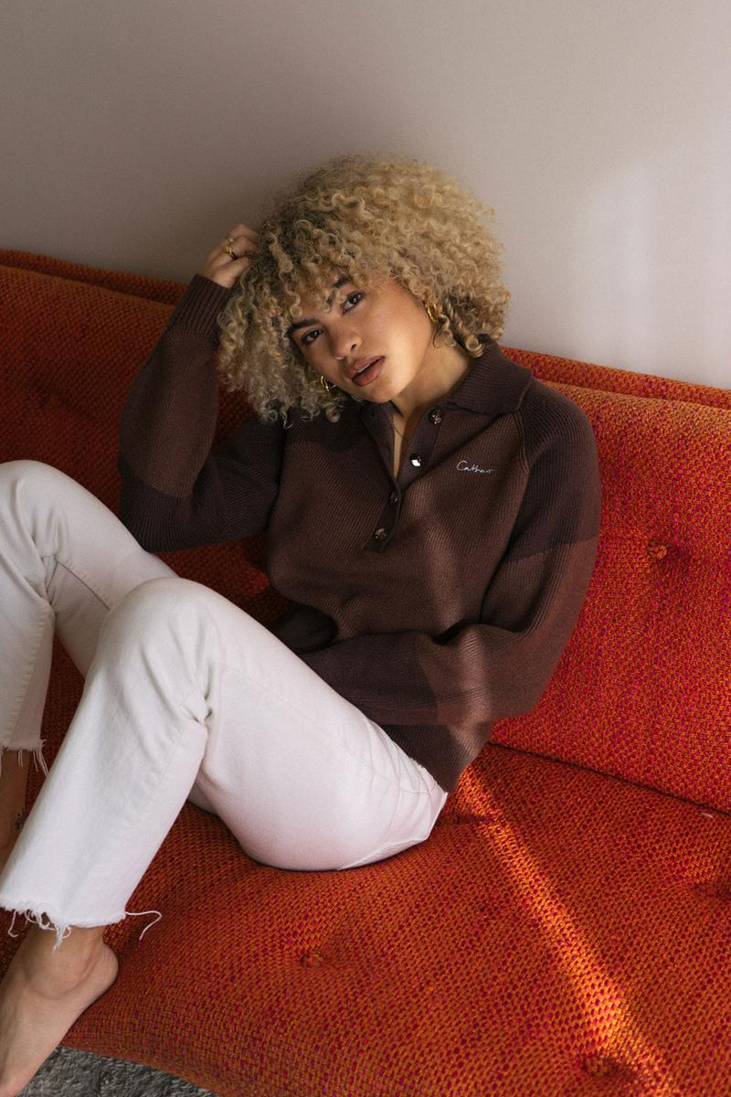 danielle cathari deconstructed knit sweater oatmeal blue bright orange fall winter release