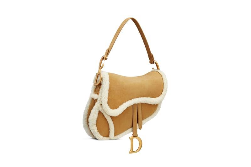 Dior Saddle Bag Camel-Colored Shearling Fall Winter 2020 Christian Luxury Designer Handbag