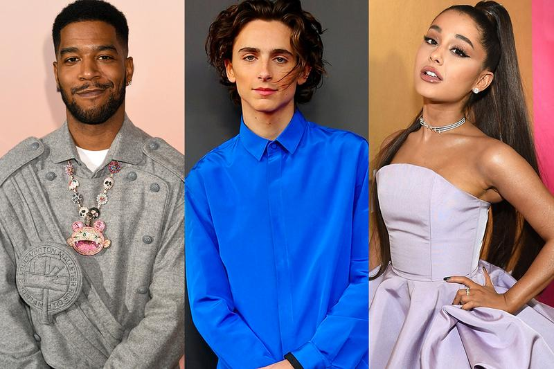 Ariana Grande Timothée Chalamet Kid Cudi Singer Rapper Actor Don't Look Up Cast Netflix Movie Red Carpet