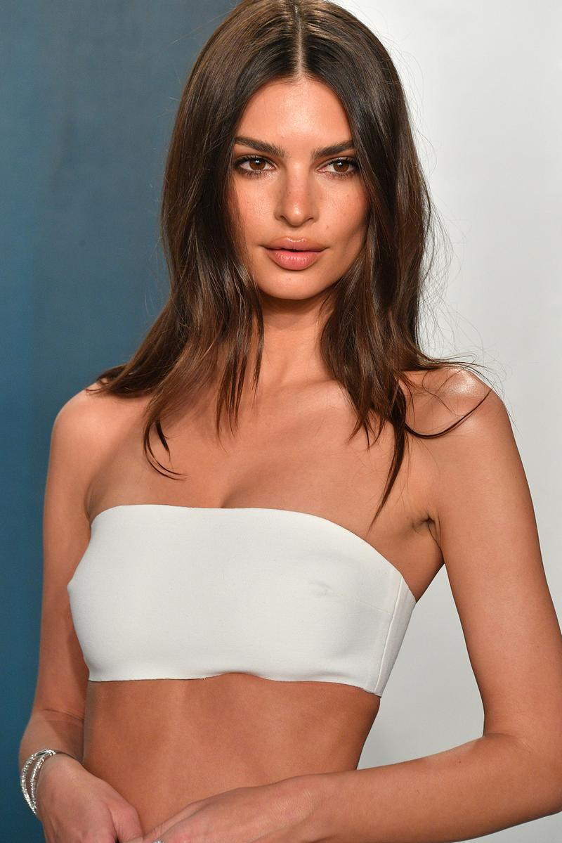Emily Ratajkowski Vanity Fair Afterparty Party Red Carpet Look White Tub Dress Gown Oscars Emrata Model Actress
