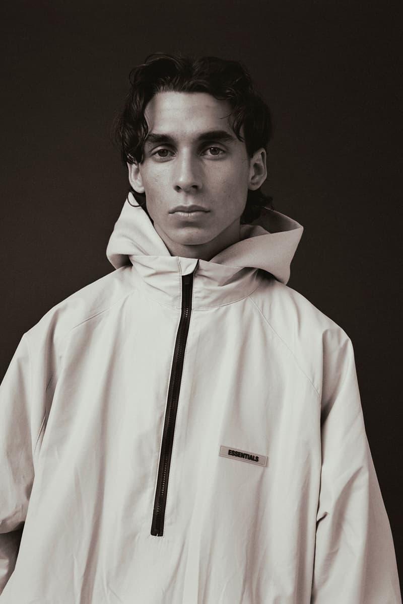 fear of god essentials fall collection loungewear outerwear sweatshirt denim jackets lookbook