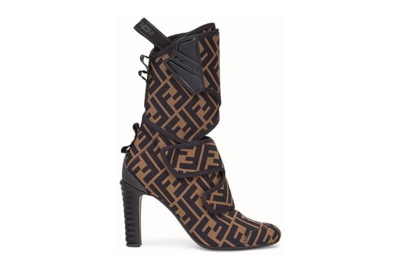 Fendi Logo Monogram Heeled Boots Luxury Fall Winter Footwear
