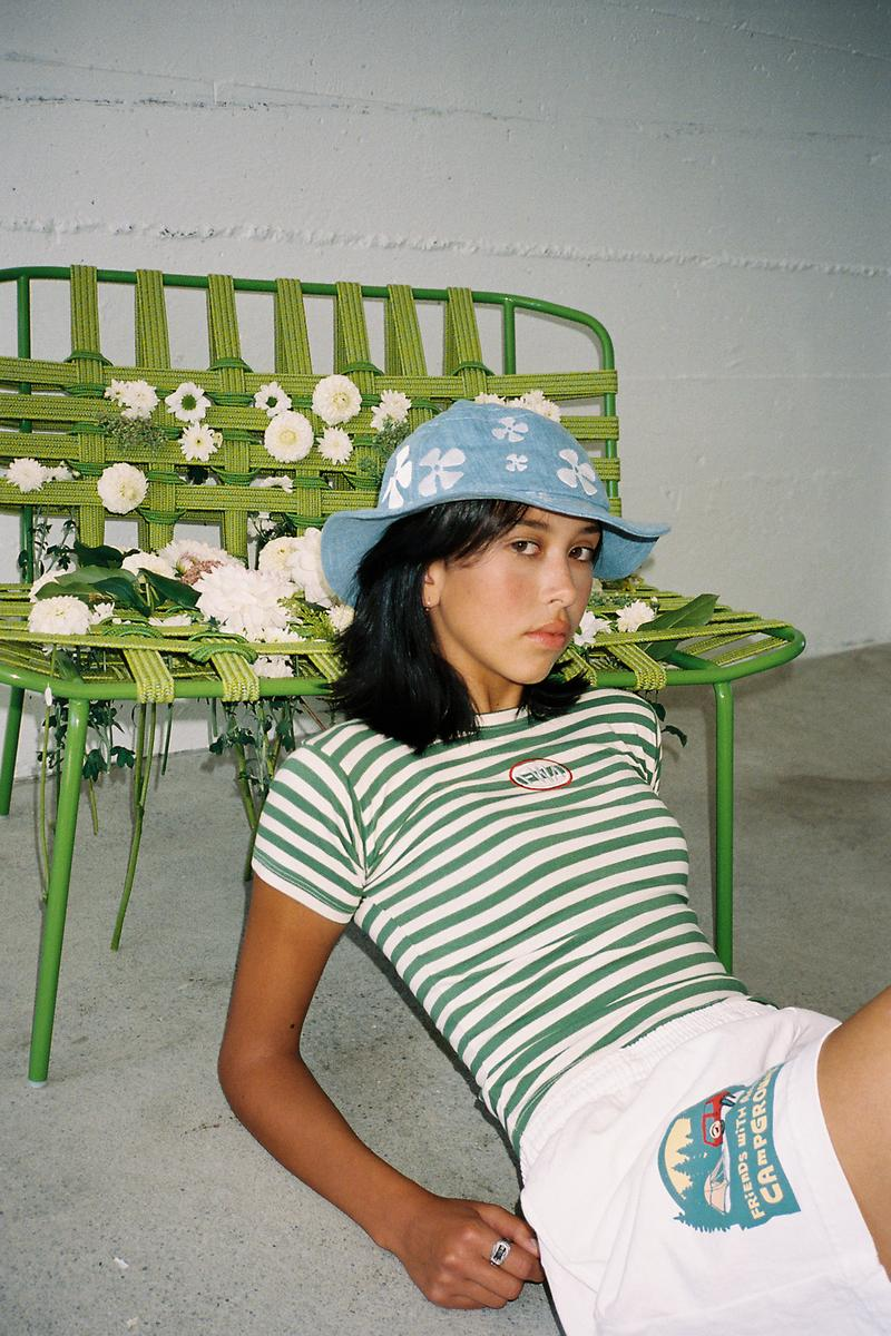 Friends With Animals Fall/Winter 2020 Collection Striped T-Shirt Bucket Hat