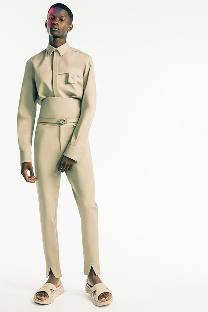 givenchy matthew williams spring summer 2021 first debut collection hardware chains tryp toe heels marshmallow slides