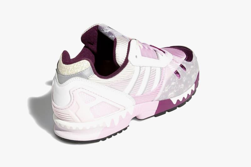 hey tea adidas originals a-zx 7000 sneakers collaboration merlot rich mauve clear lilac release info
