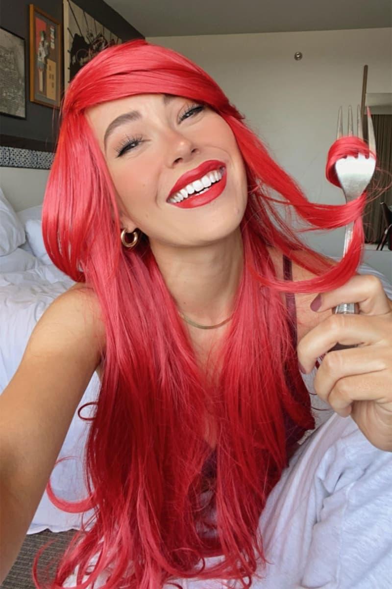 insert name here inh halloween ideas ariel little mermaid tutorial red wigs hair makeup jordynn wynn