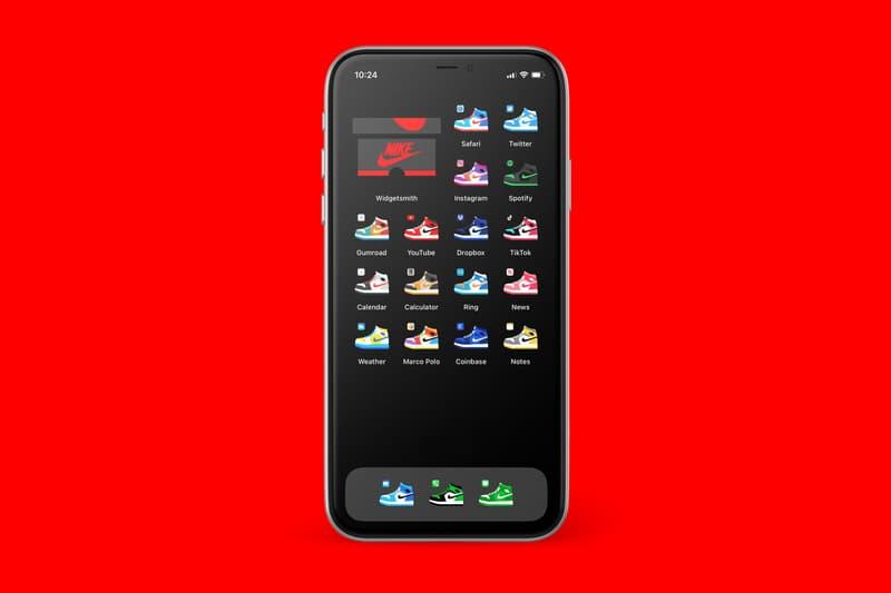 iPhone App Icons Home Screen Nike Sneakers Air Jordan 1 Custom Pack Jeremy Booth