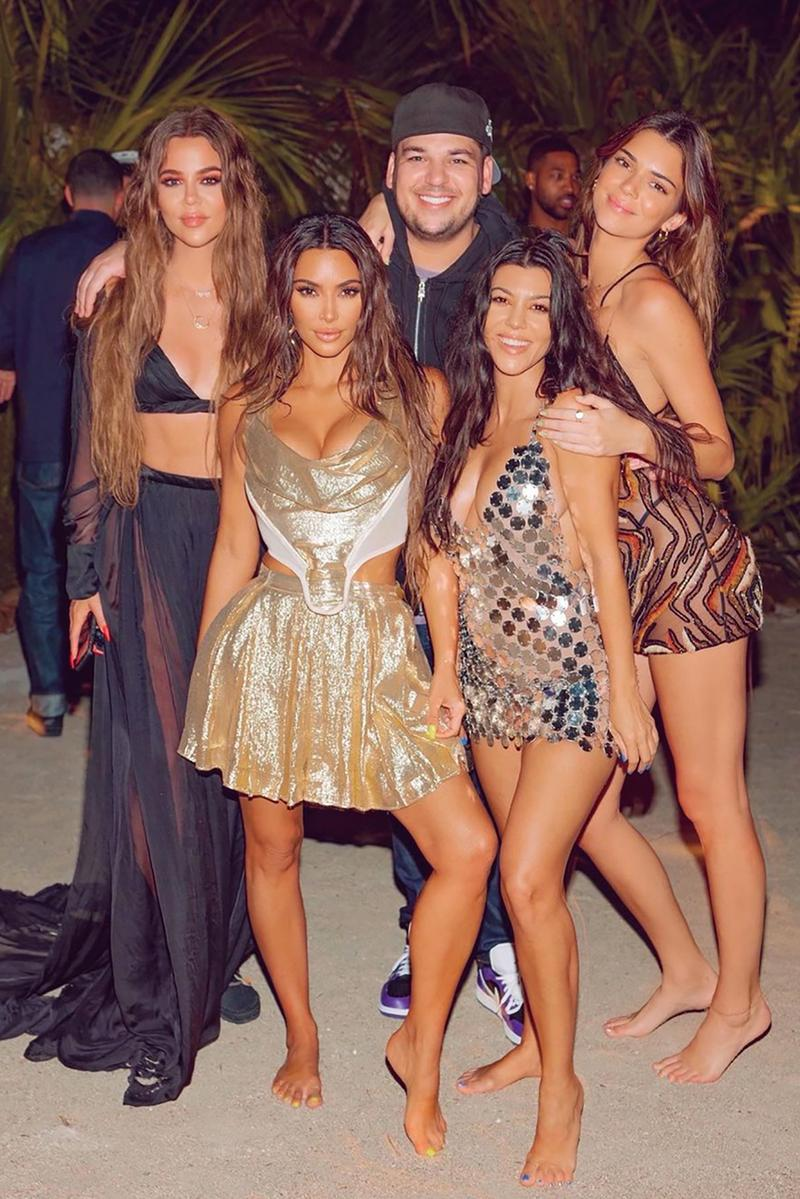 kim khloe kendall kourtney robert kardashian jenner 40 birthday celebration backlash criticism social media