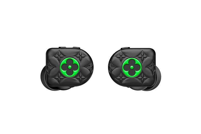 Louis Vuitton Horizon Black Neon Green Earphones Monogram