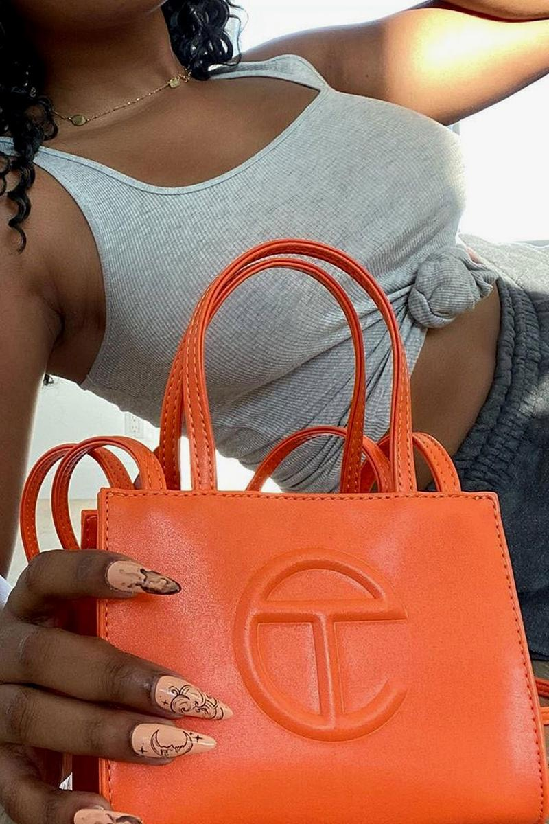 telfar shopping bags clemens orange yellow nike sb dunks