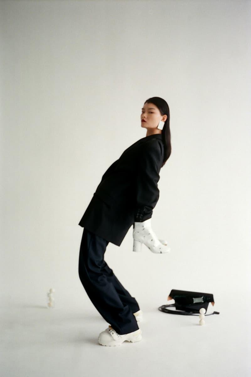 mm6 maison margiela fall winter editorial outerwear blazers tabi boots bags