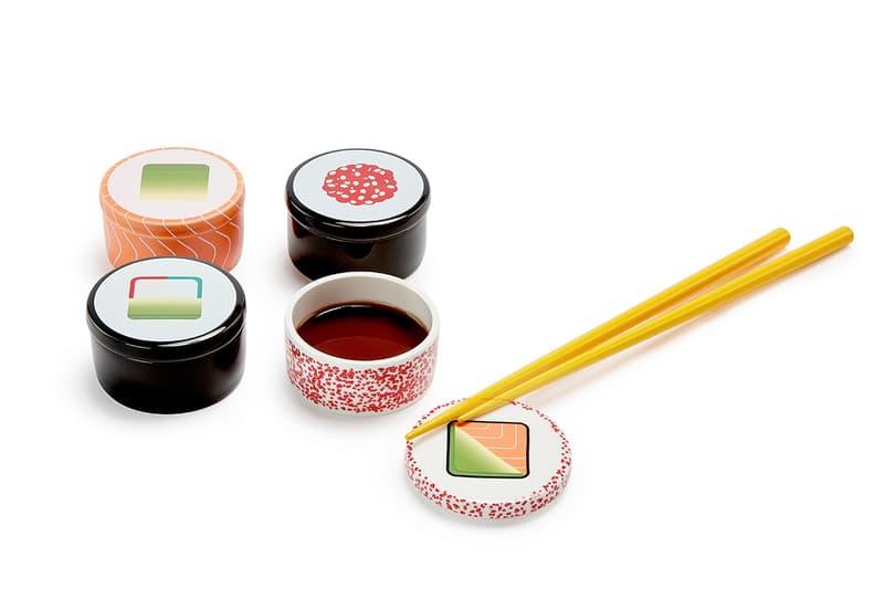 Nam Yoon Maki Sushi Soy Sauce Bowls Chopstick Rest Design Kitchen Gift