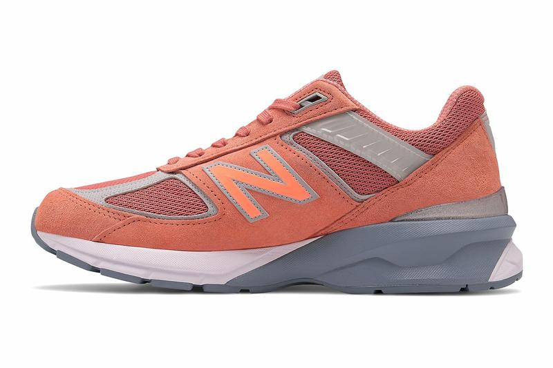 new balance 990v5 sunrise made in the usa peach coral peach pink sneakers price release