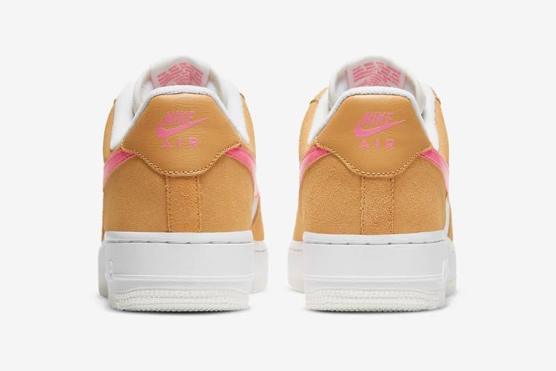 nike air force 1 07 womens sneakers orange pink white colorway footwear shoes sneakerhead