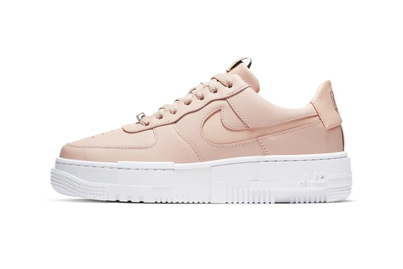 Nike Air Force 1 Pixel Women Sneaker Shoe Particle Beige Pastel Pink