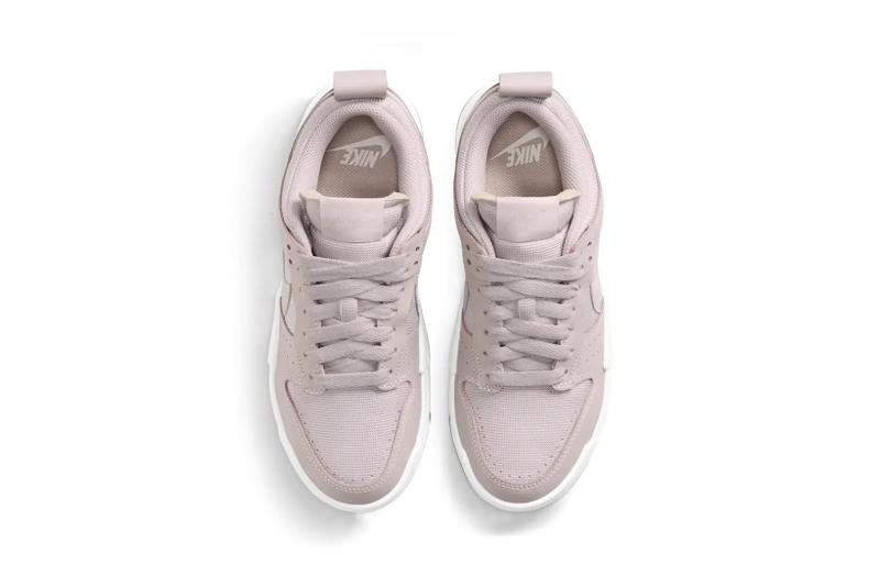 nike dunk low disrupt womens sneakers nude purple white colorway shoes footwear sneakerhead