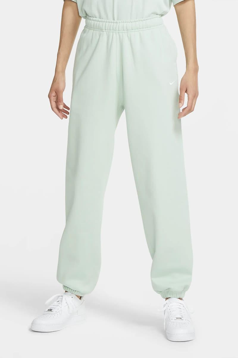 Nike NikeLab Women Fleece Sweatpants Swoosh Logo Pistachio Frost Pastel Green