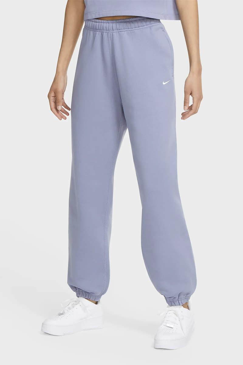 Nike NikeLab Women Fleece Sweatpants Swoosh Logo Stellar Indigo Purple