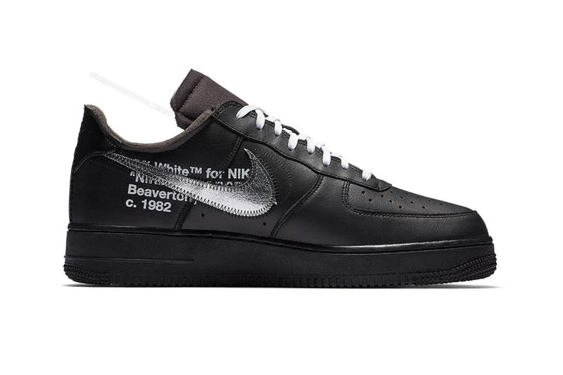 nike off white virgil abloh moma collaboration air force 1 black colorway sneakers sneakerhead footwear shoes