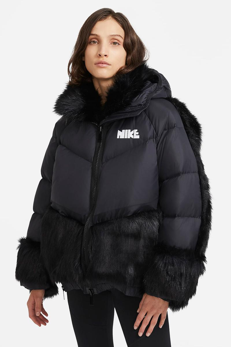 sacai nike collaboration outerwear collection jackets hoodie parka