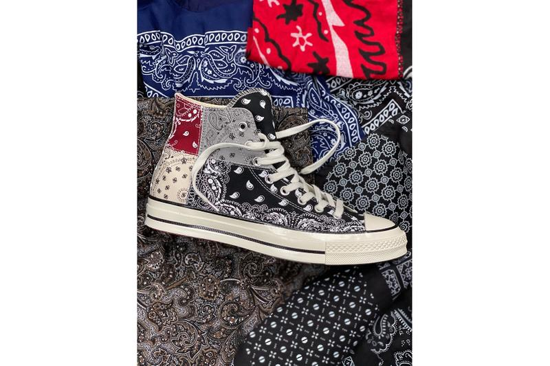 OFFSPRING x Converse Chuck 70 Paisley Black Grey Red
