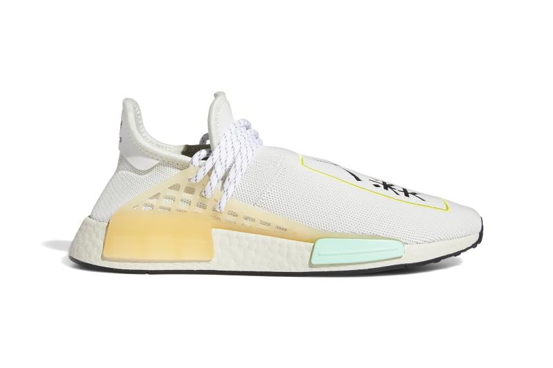 pharrell williams adidas originals collaboration nmd chinese korean characters sneakers blue green white