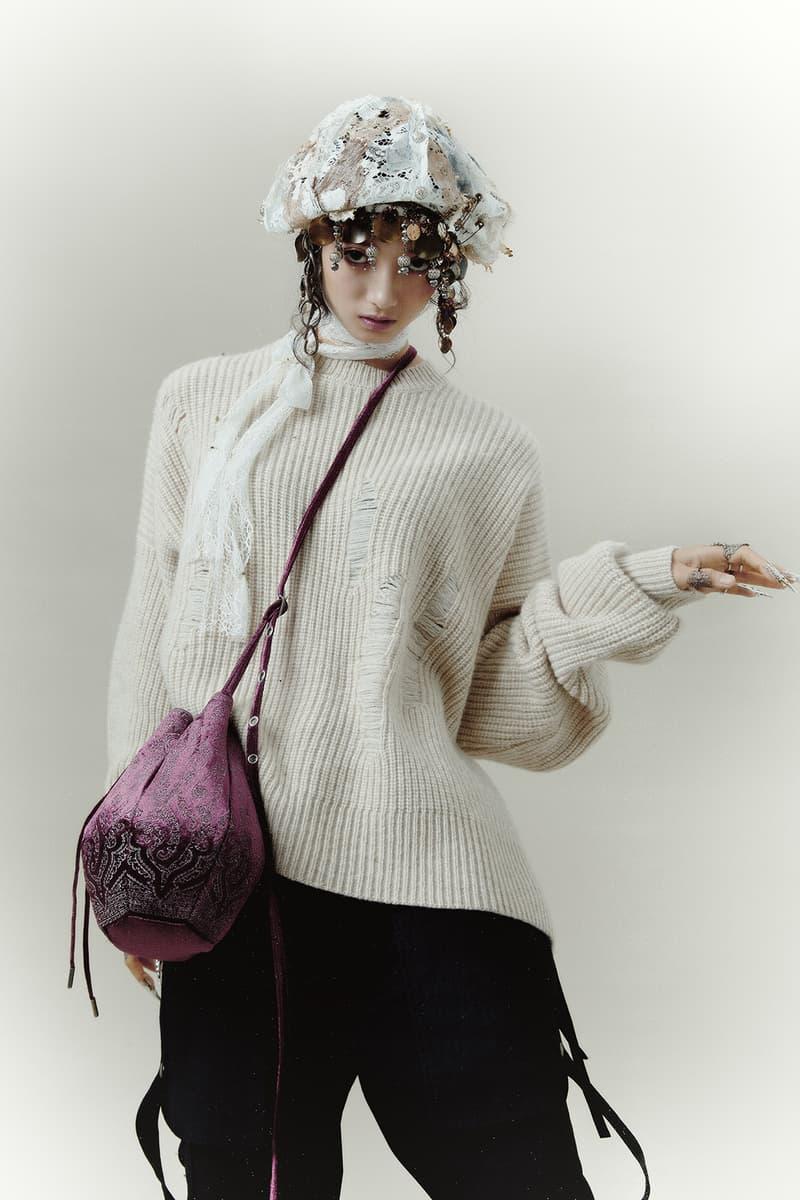 professor e fall winter collection womenswear lookbook knitwear sweaters coats taiwan emerging designer