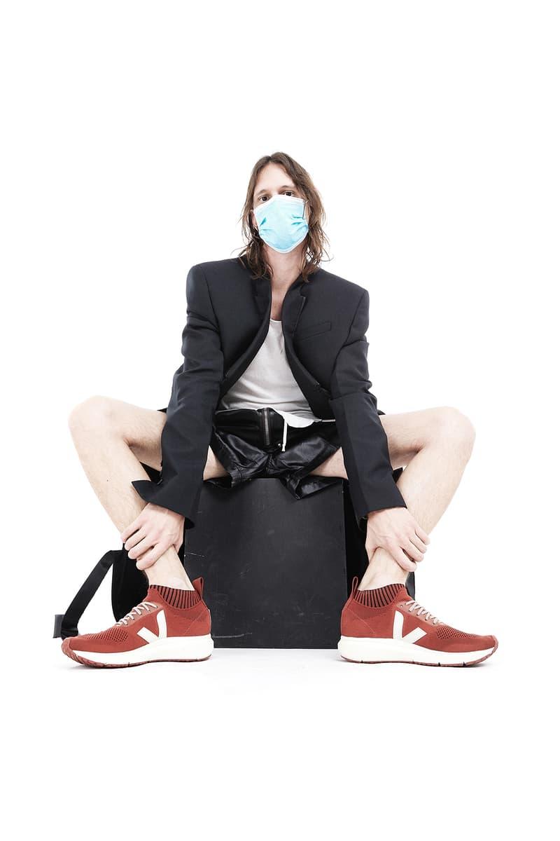 Rick Owens x Veja Sneaker Collaboration Runner 2 Full Acid Yellow