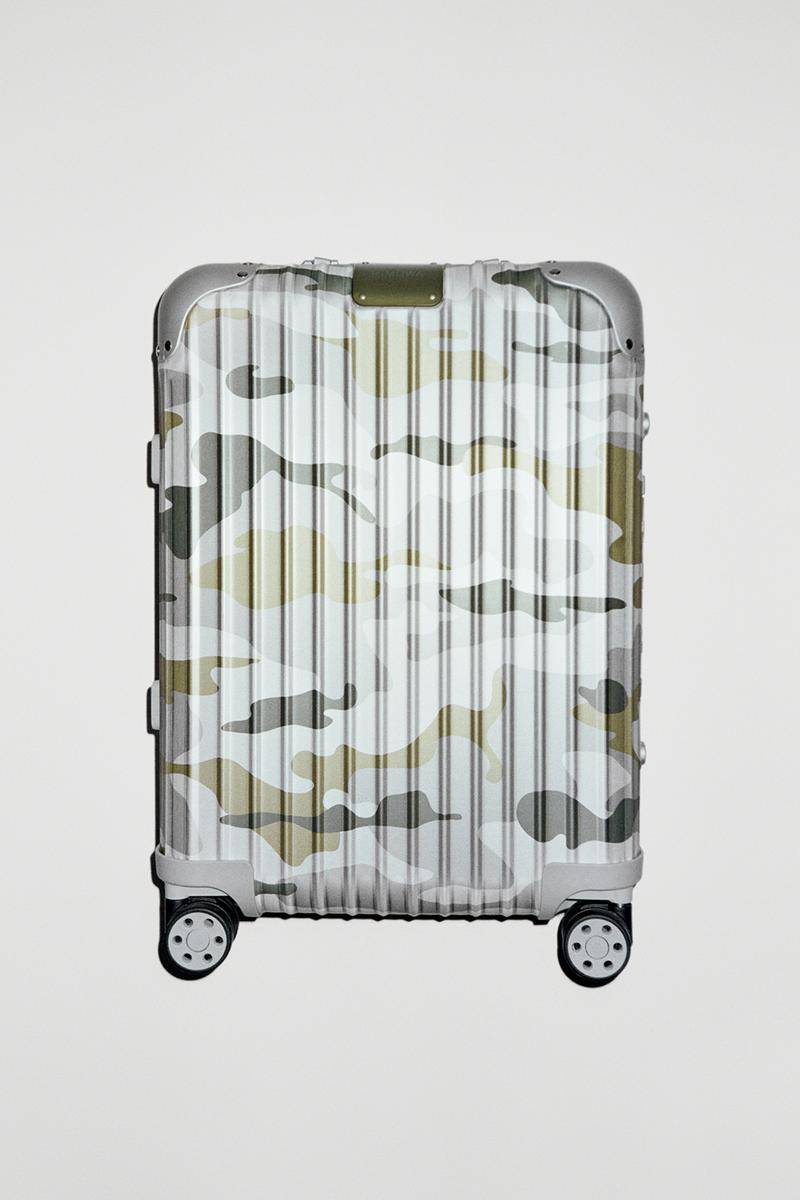 rimowa original aluminium suitcase luggage camouflage limited edition cabin green pink colorway
