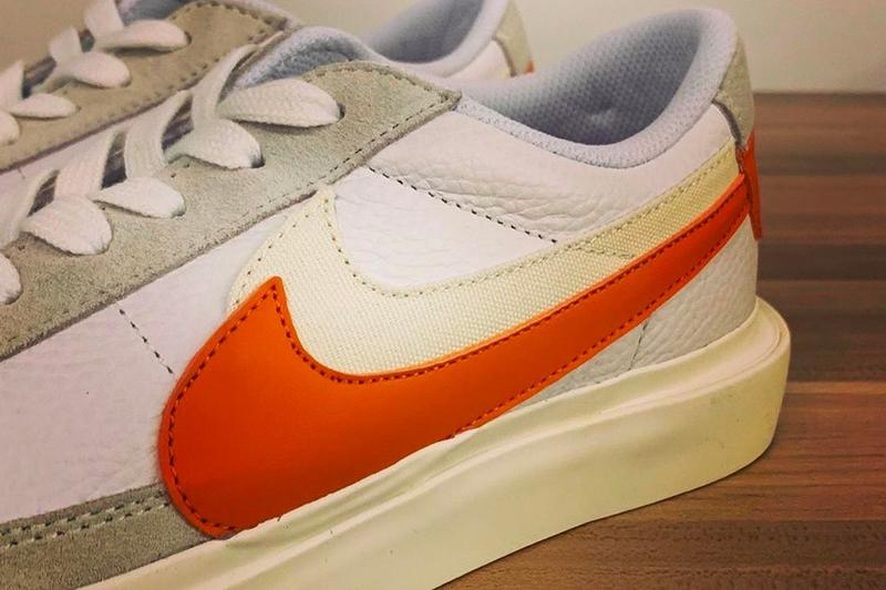 sacai x Nike Blazer Low Grey Green Orange White