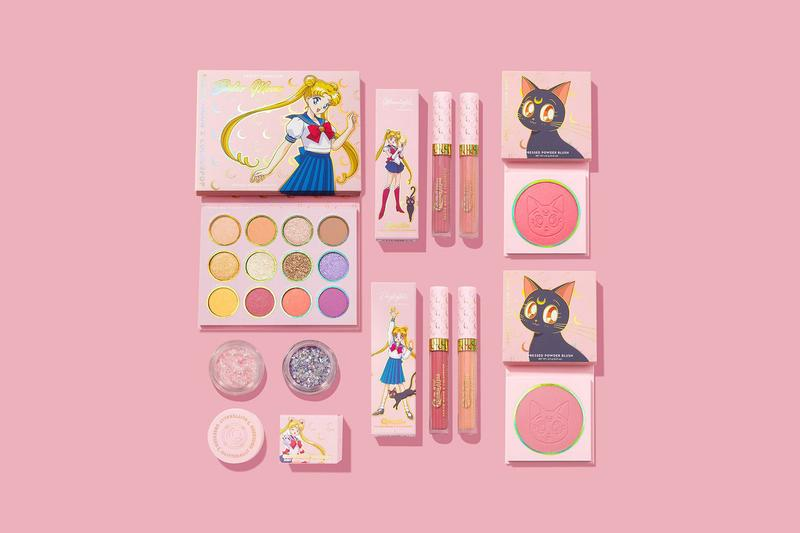 Sailor Moon x ColourPop Makeup Collection Collaboration Eyeshadow Lipstick Blush Glitter Gel
