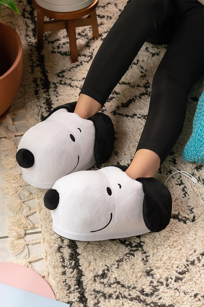 smoko snoopy peanuts collaboration heated usb slipper plushies