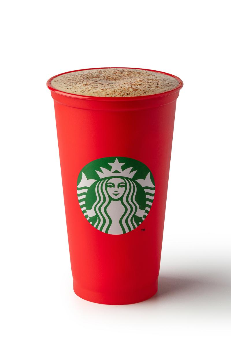 Starbucks Christmas Menu Drinks Eggnogg Toffee Nut Latte Beverages Hot Cold Frappuccino