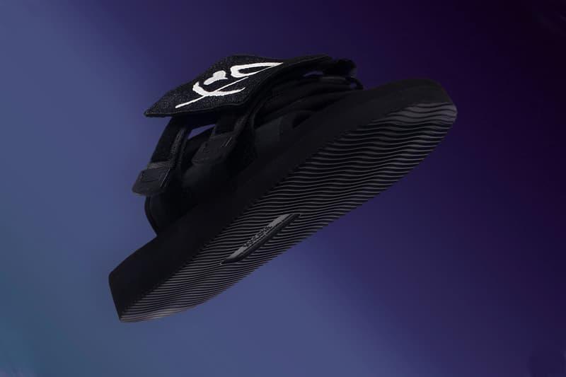 suicoke the weeknd xo collaboration moto sandal slides black colorway footwear
