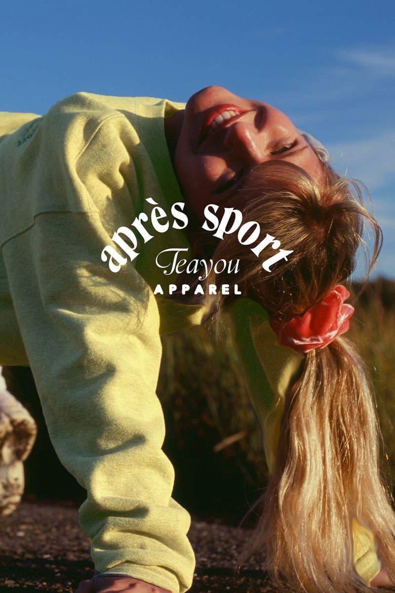 Tea You Montreal Après Sport Fleece Suit Sweater Crewneck Sweatshirt Sweats Women Pastel Green Pear